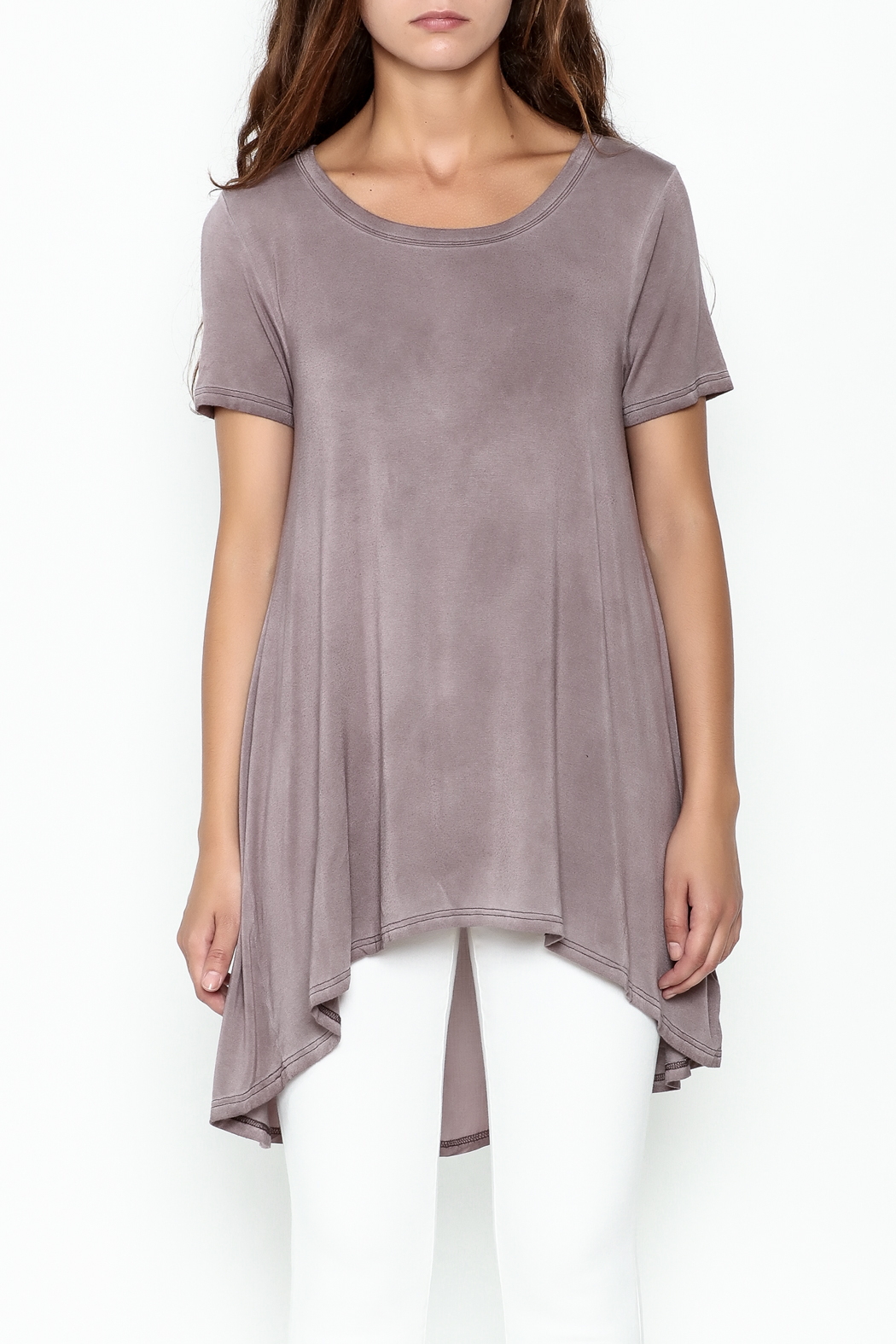Hyku Tunic Length Top - Front Full Image