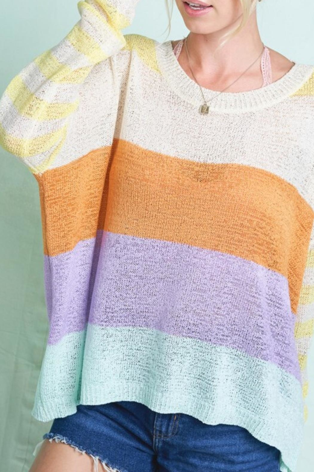Hyped Unicorn Lite Pastel Sweater - Front Full Image