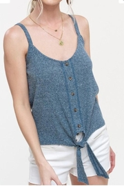Hyped Unicorn Ribbed Knit Tank - Front cropped