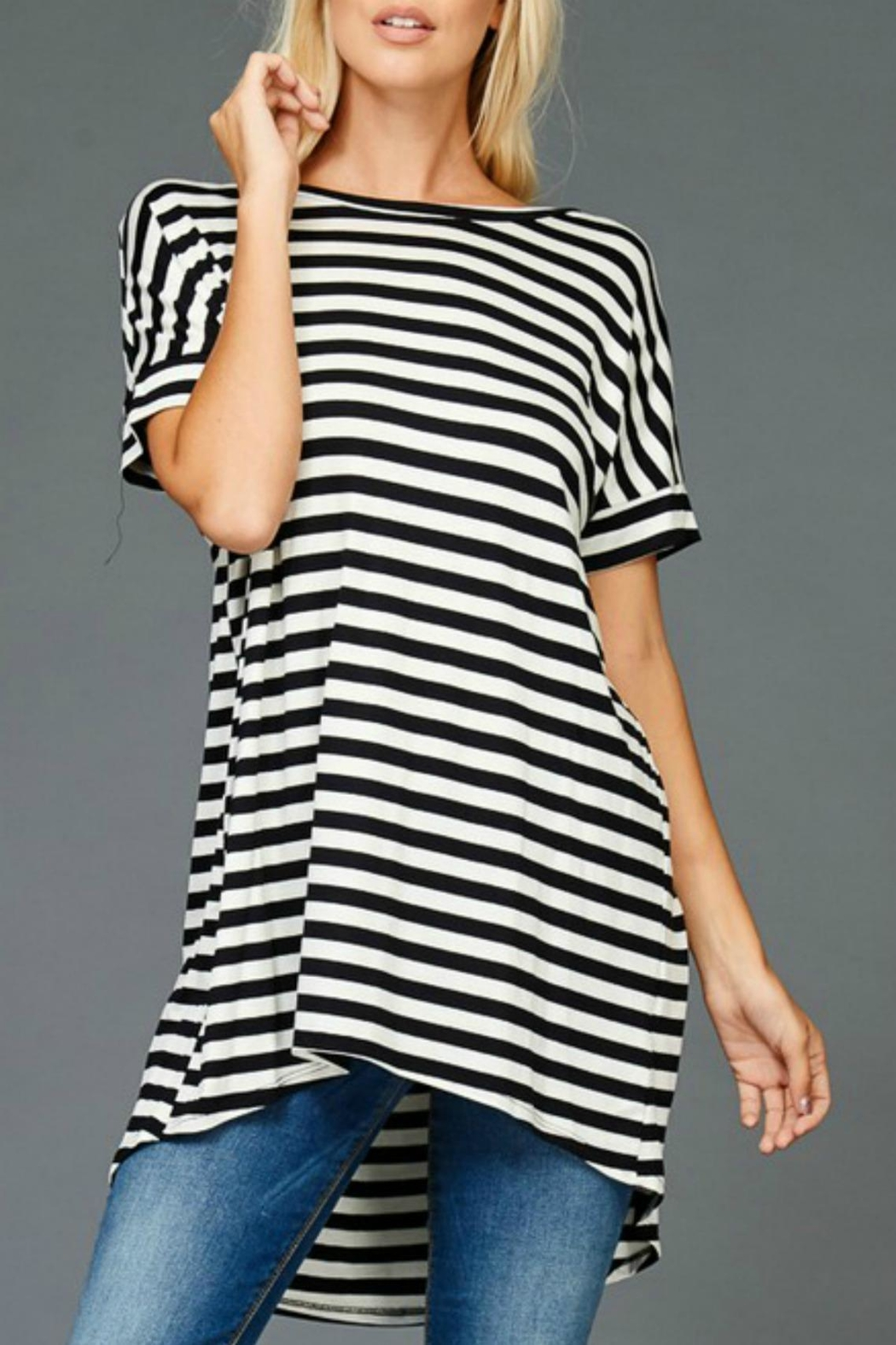 Hyped Unicorn Striped Hem Tunic - Main Image