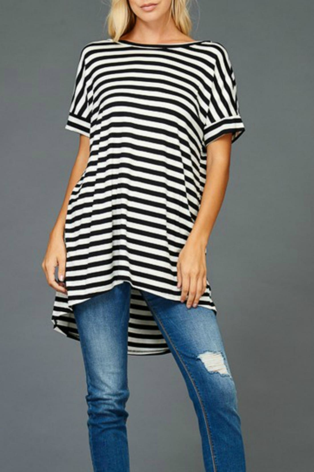 Hyped Unicorn Striped Hem Tunic - Front Full Image