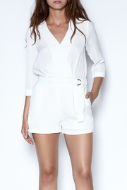 HYPR White V Neck Romper - Product Mini Image