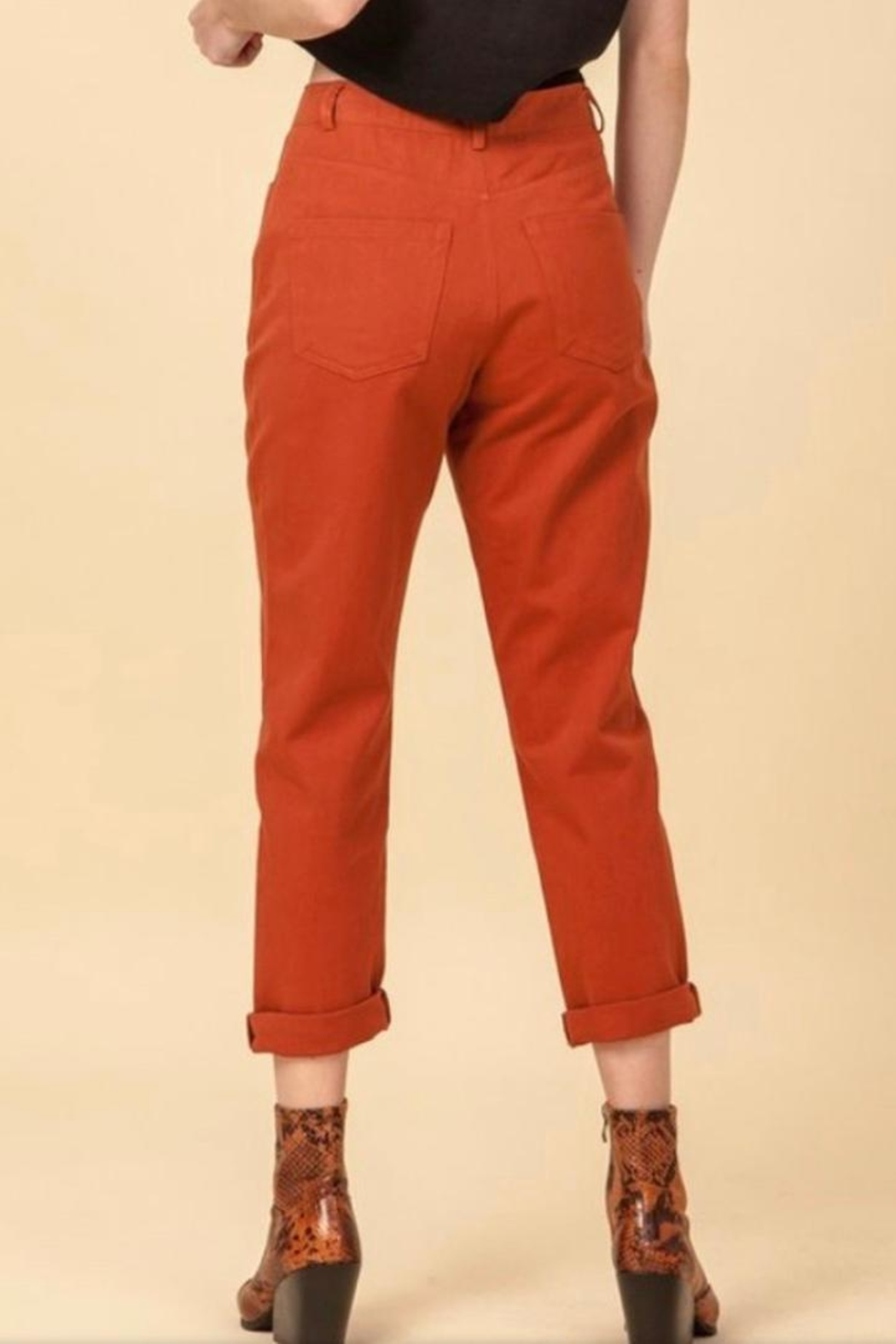 HYVE Rust Woven Pants - Front Full Image