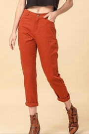 HYVE Rust Woven Pants - Product Mini Image