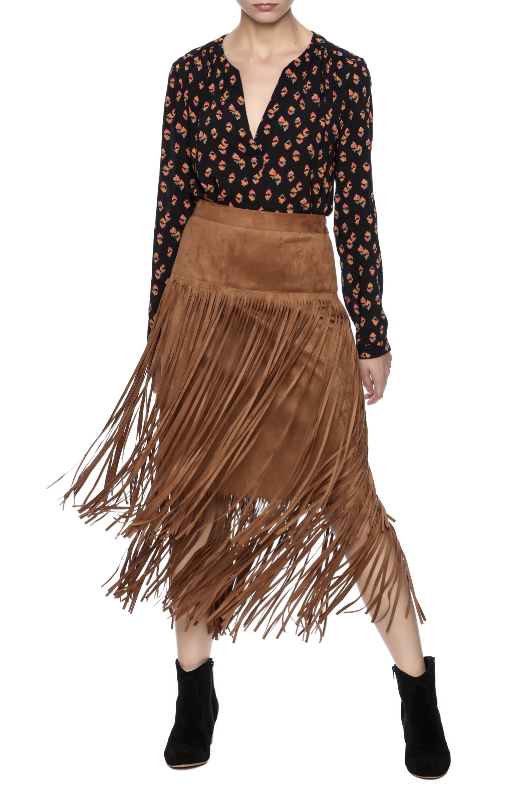 I C Collection Long Fringe Skirt From Saratoga By Laura M