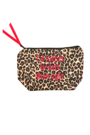 Dani Risi I'd rather be late than ugly pouch - Front cropped