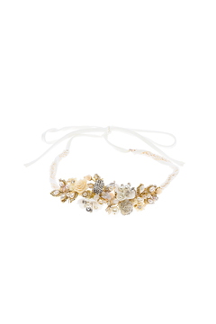 Shoptiques Product: Gold Flower Headband