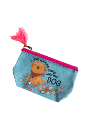 Natural Life I Just Wanna Hang With My Dog Mini Pouch - Front cropped