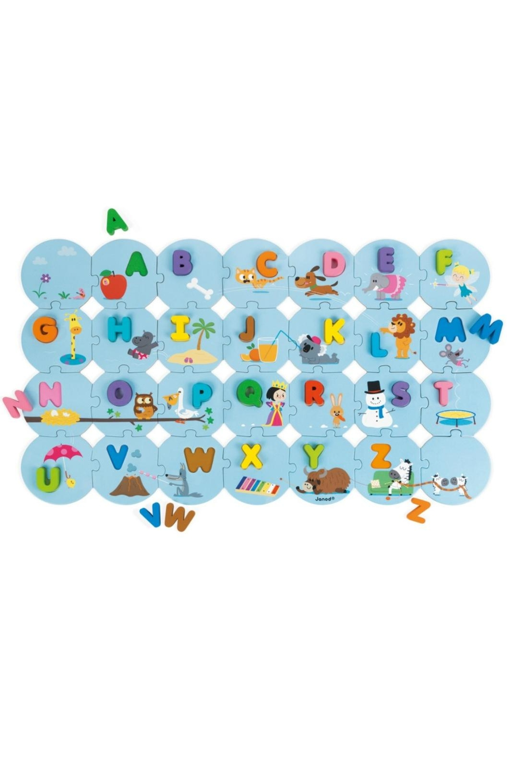 Janod I-Learn-The-Alphabet Puzzle - Front Full Image