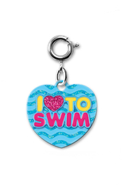 Charm It I Love To Swim Charm - Front cropped
