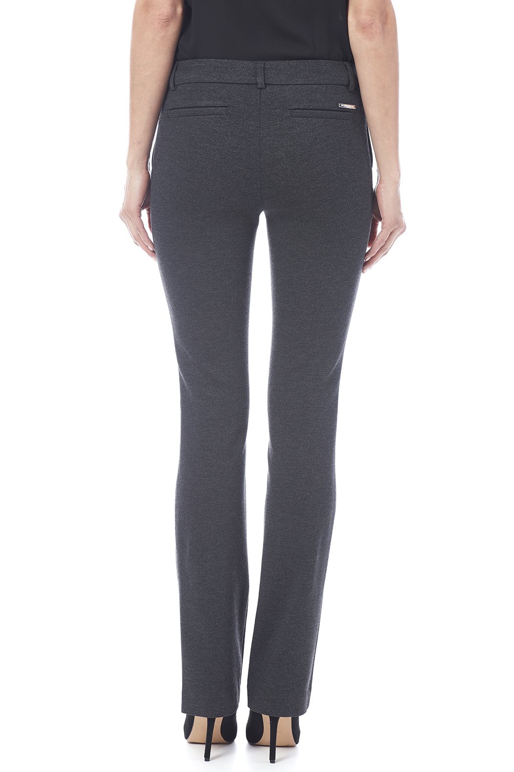 I Love Tyler Madison Charcoal Trouser Pant - Back Cropped Image
