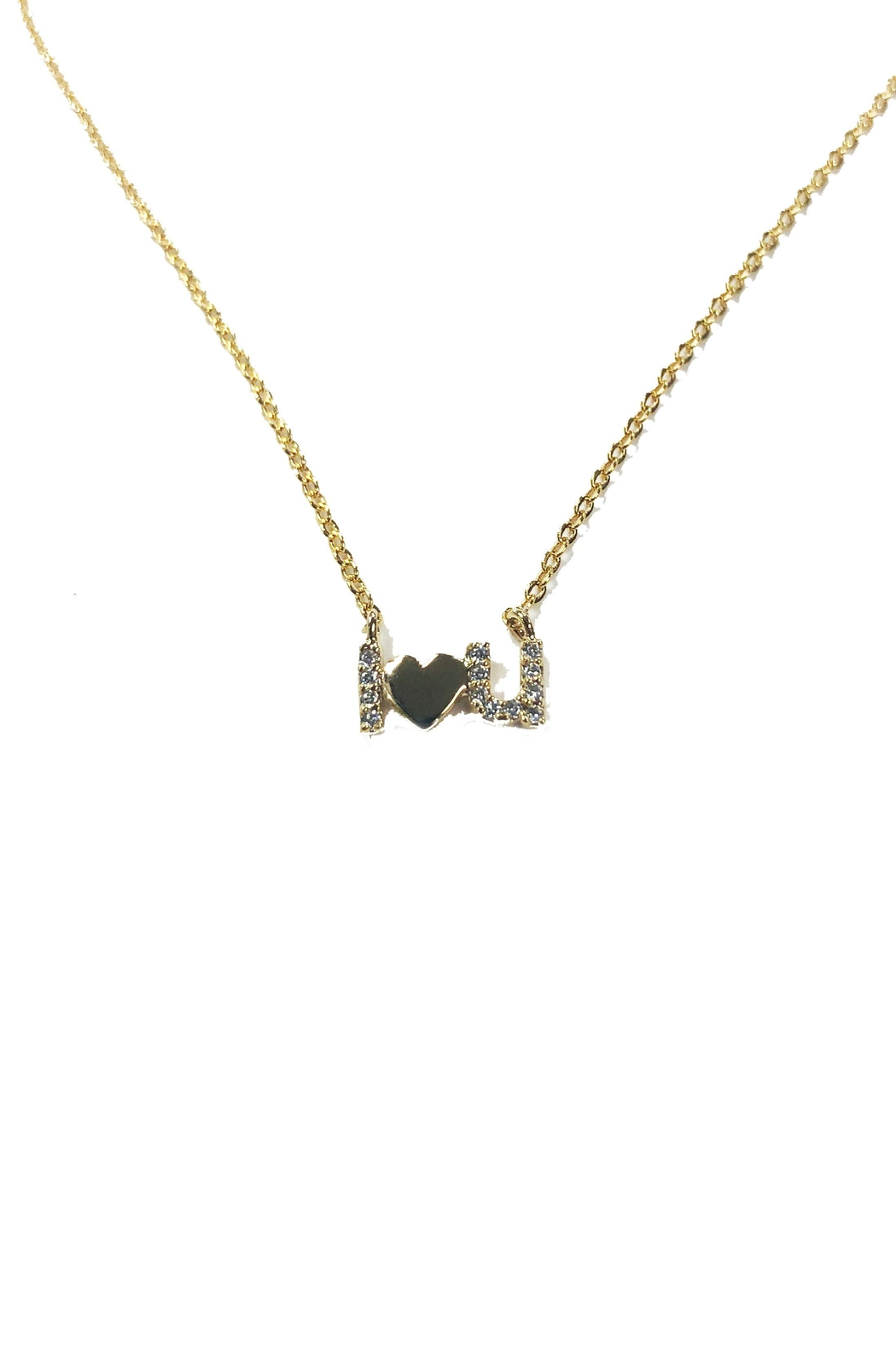 Lets Accessorize I-Love-You Necklace - Front Cropped Image