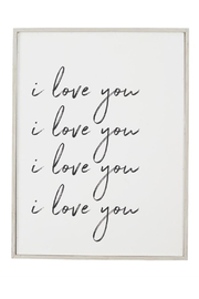 Mud Pie  I Love You Plaque - Product Mini Image