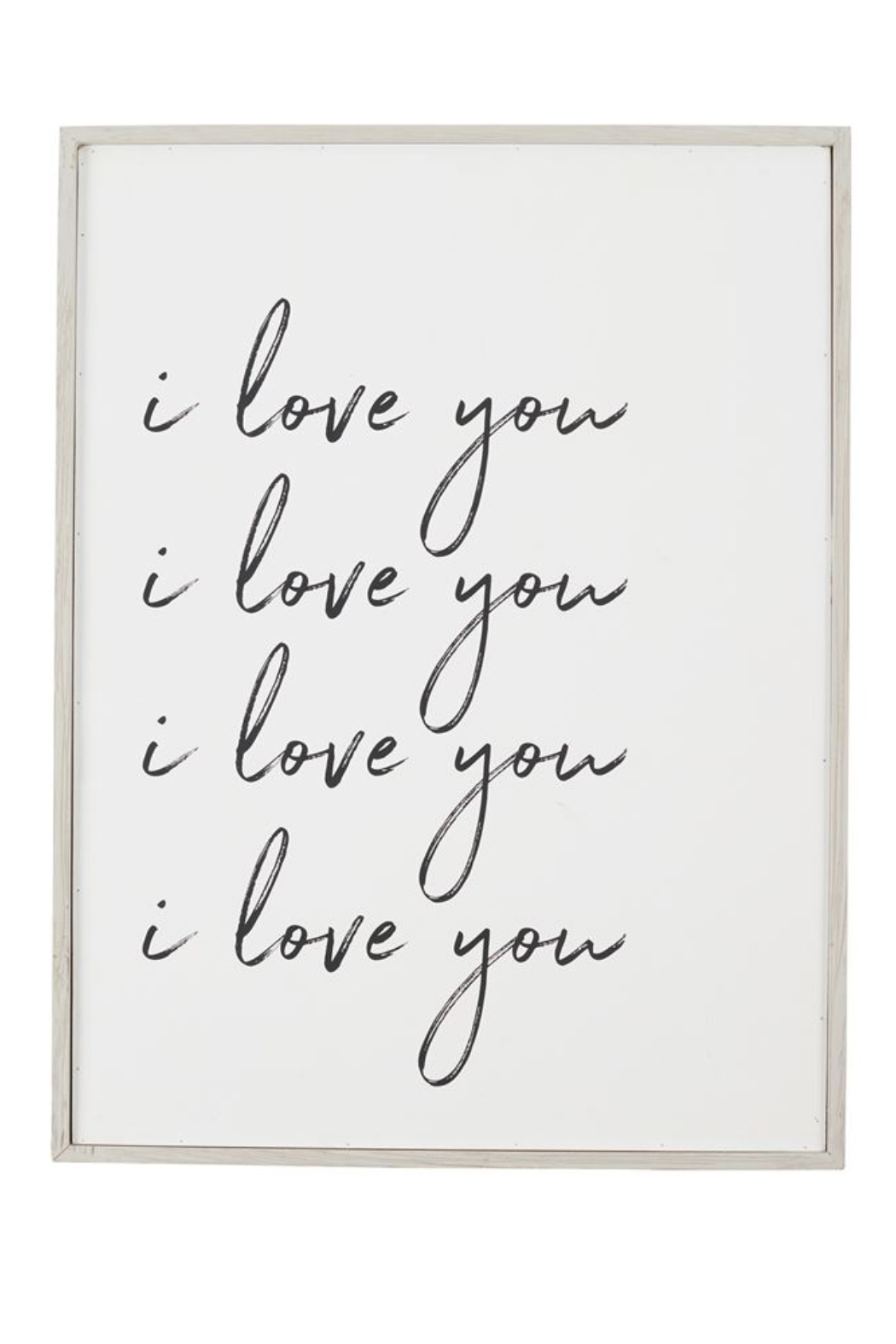 Mud Pie  I Love You Plaque - Front Cropped Image