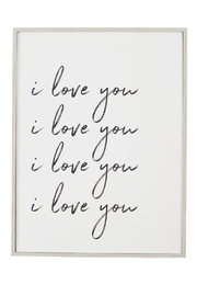 Mud Pie  I Love You Plaque - Front cropped