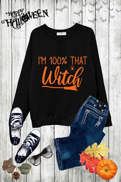 Caramelo Trend I'm 100% That Witch Sweatshirt - Alternate List Image