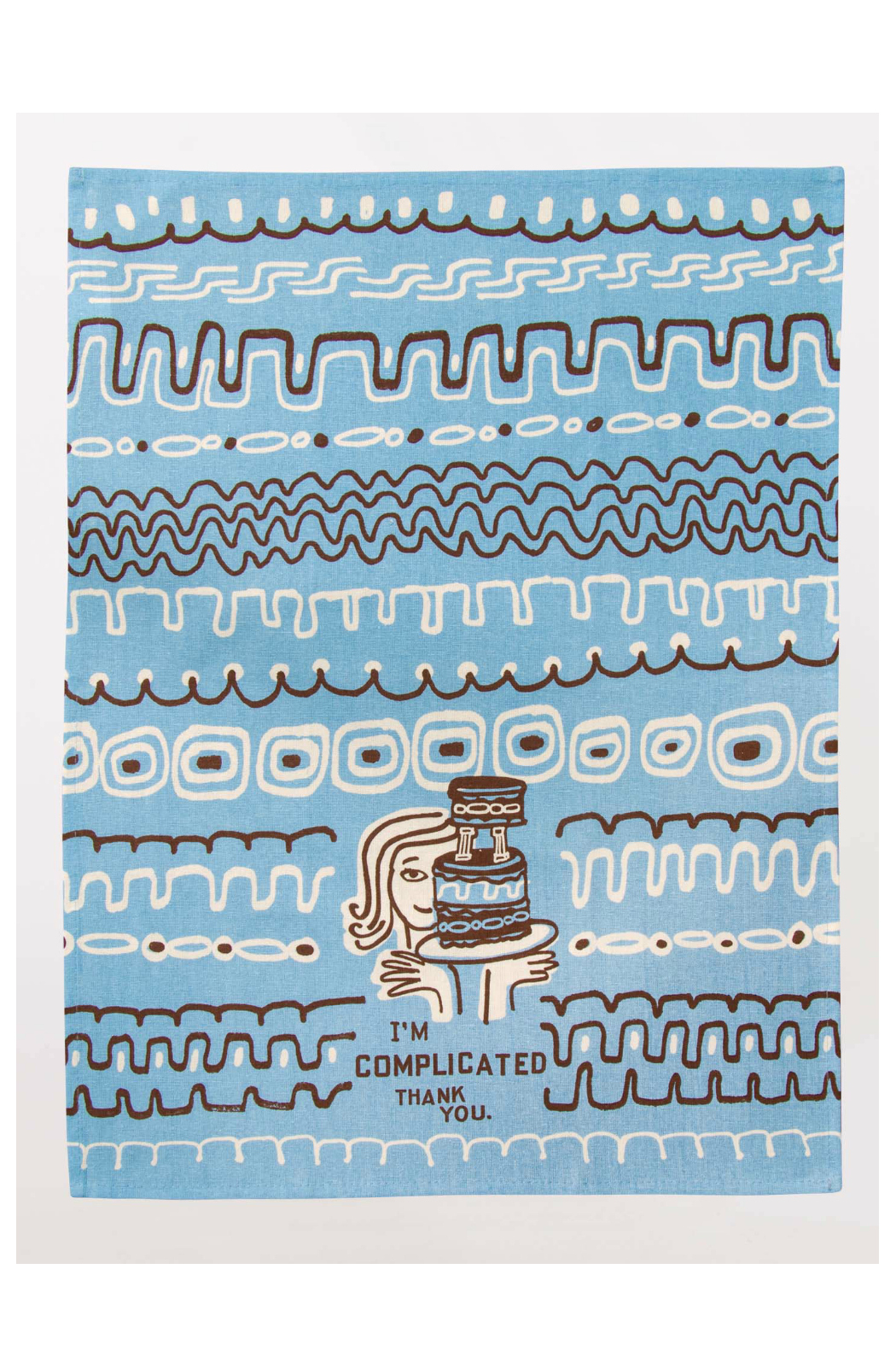 Blue Q I'm Complicated Dish Towel - Front Full Image