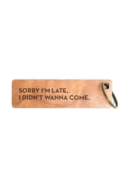 Sapling Press I'm Late Keychain - Product Mini Image