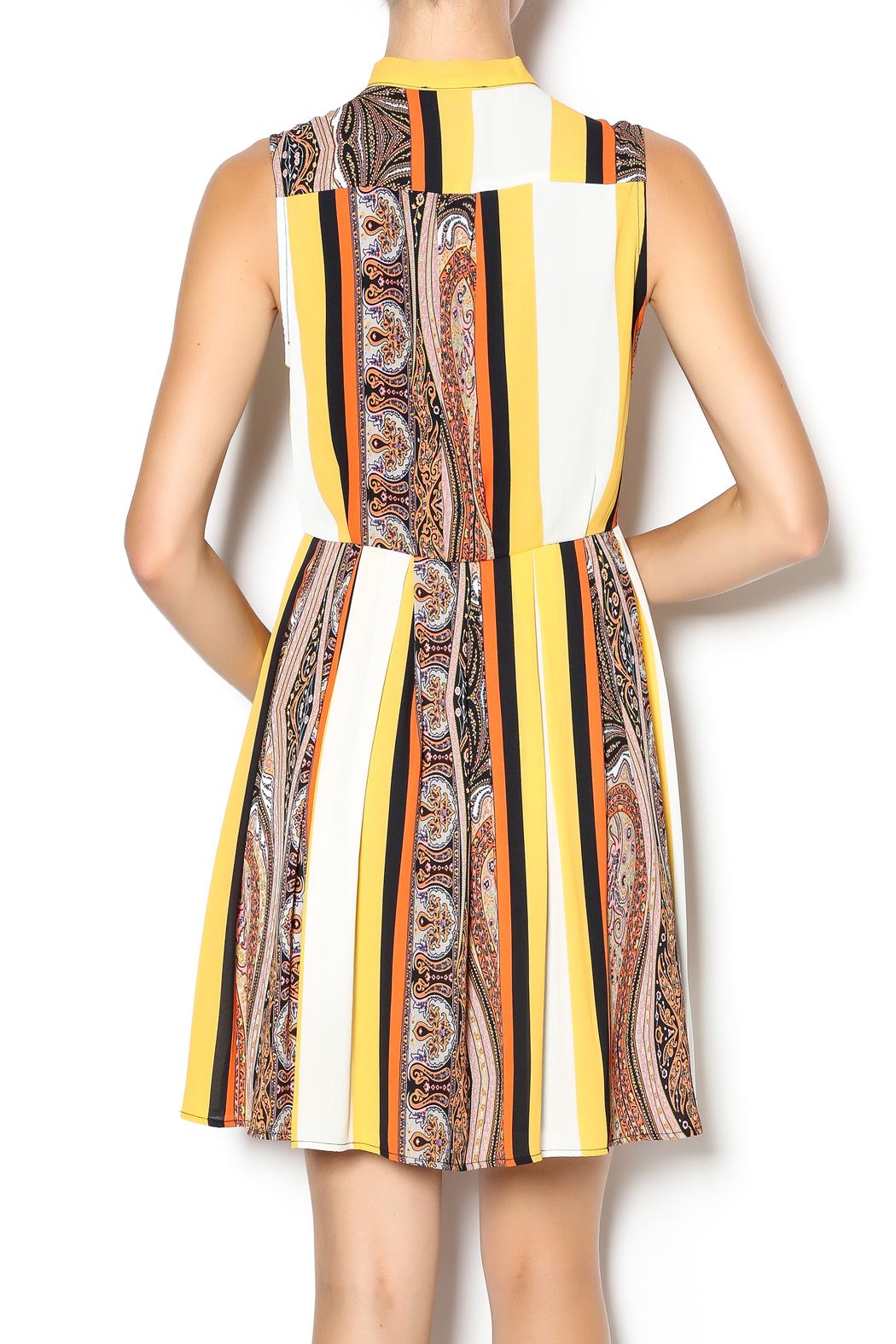 I. Madeline Fall Stripe Dress - Back Cropped Image
