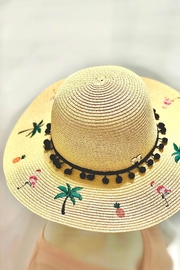 I.O. Domani Flamingo Straw Hat - Product Mini Image