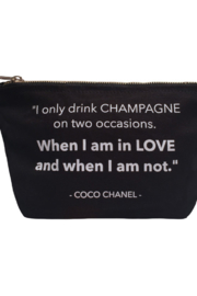 Boe I Only Drink Champagne Pouch - Product Mini Image