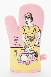 Blue Q I've Got A Knife Oven Mitt - Product Mini Image