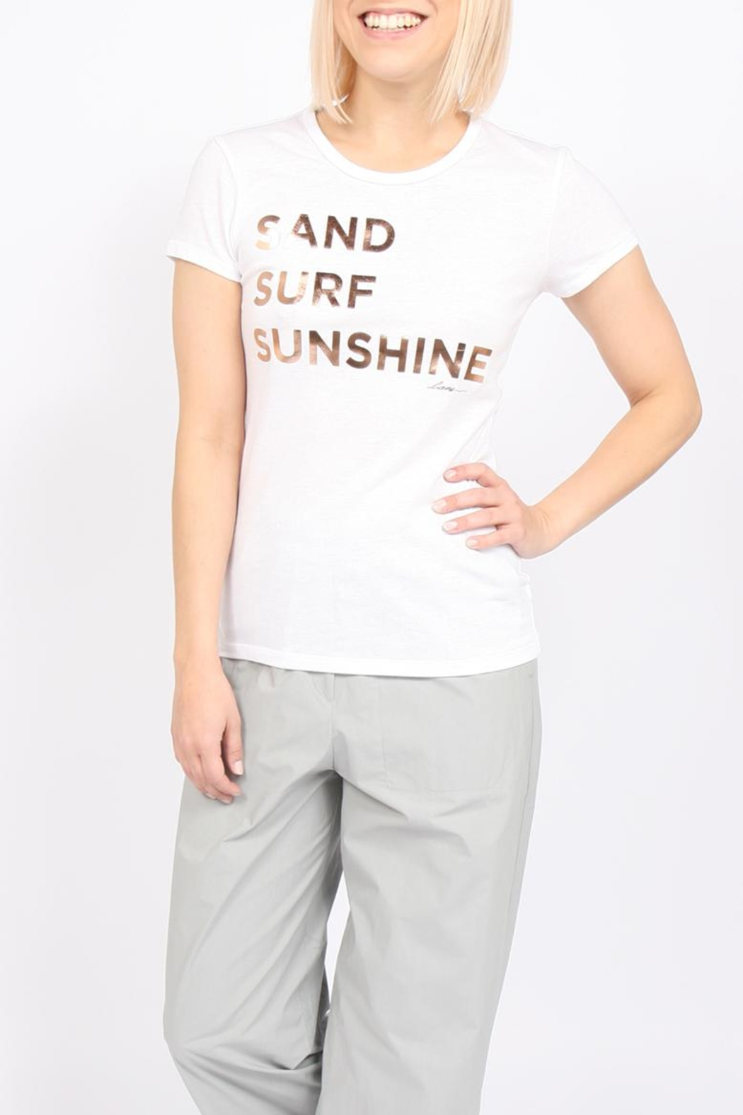 I Am My Story Tees Sand-Surf-Sun Tee - Front Cropped Image