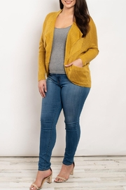 I Love Mustard Tunic Cardigan - Front cropped