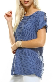 I ma belle Open Shoulder Top - Product Mini Image