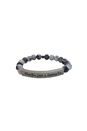 IamTra Beaded Stretch Bracelet - Product Mini Image