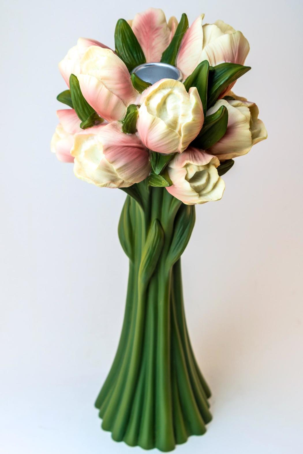 Ibis & Orchid Design Candle Holder Tulips - Main Image