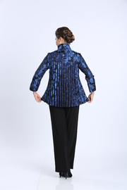IC Collection Jacquard Button Front Jacket 1514J - Front full body
