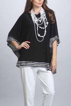IC Collection Black Poncho Top - Alternate List Image