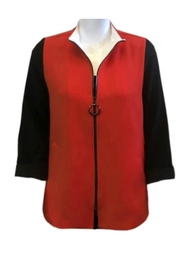 IC Collection Color Bloc Jacket - Front full body