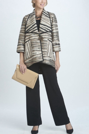IC Collection Jacquard Print Jacket - Front cropped