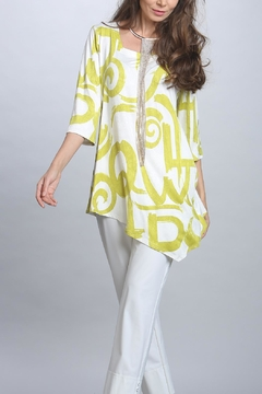 IC Collection Lime Tunic Top - Alternate List Image