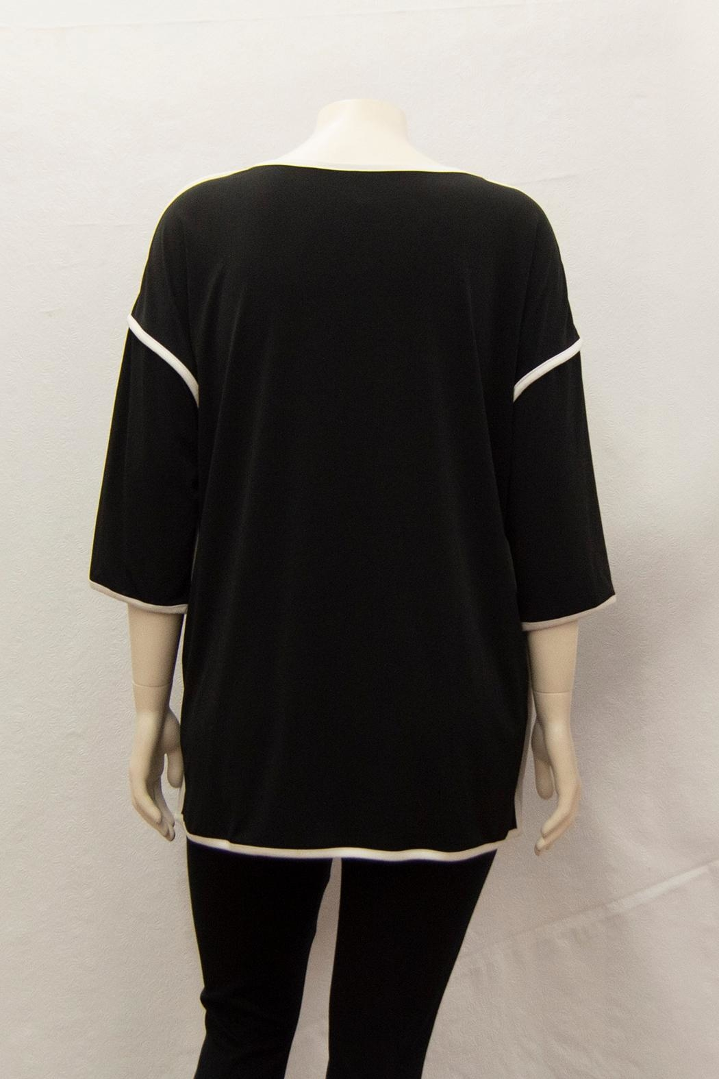 IC Collection Piped-Trim Tunic - Front Full Image