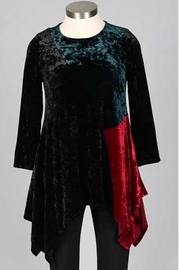 IC Collection Velvet Tunic - Front cropped