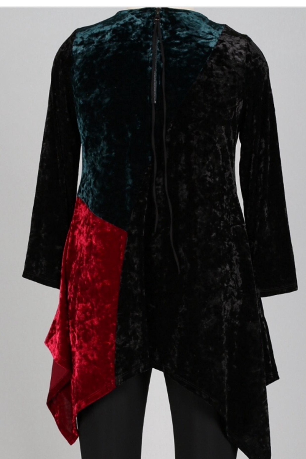 IC Collection Velvet Tunic - Front Full Image
