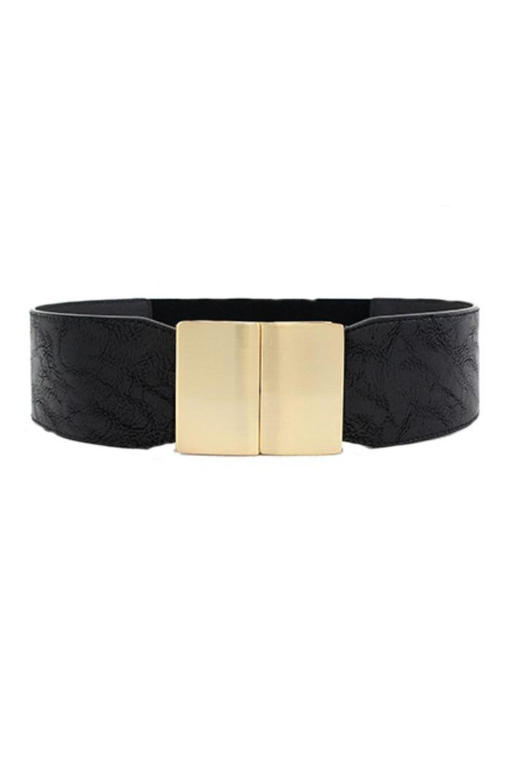 icco black wide belt from michigan by che bello boutique