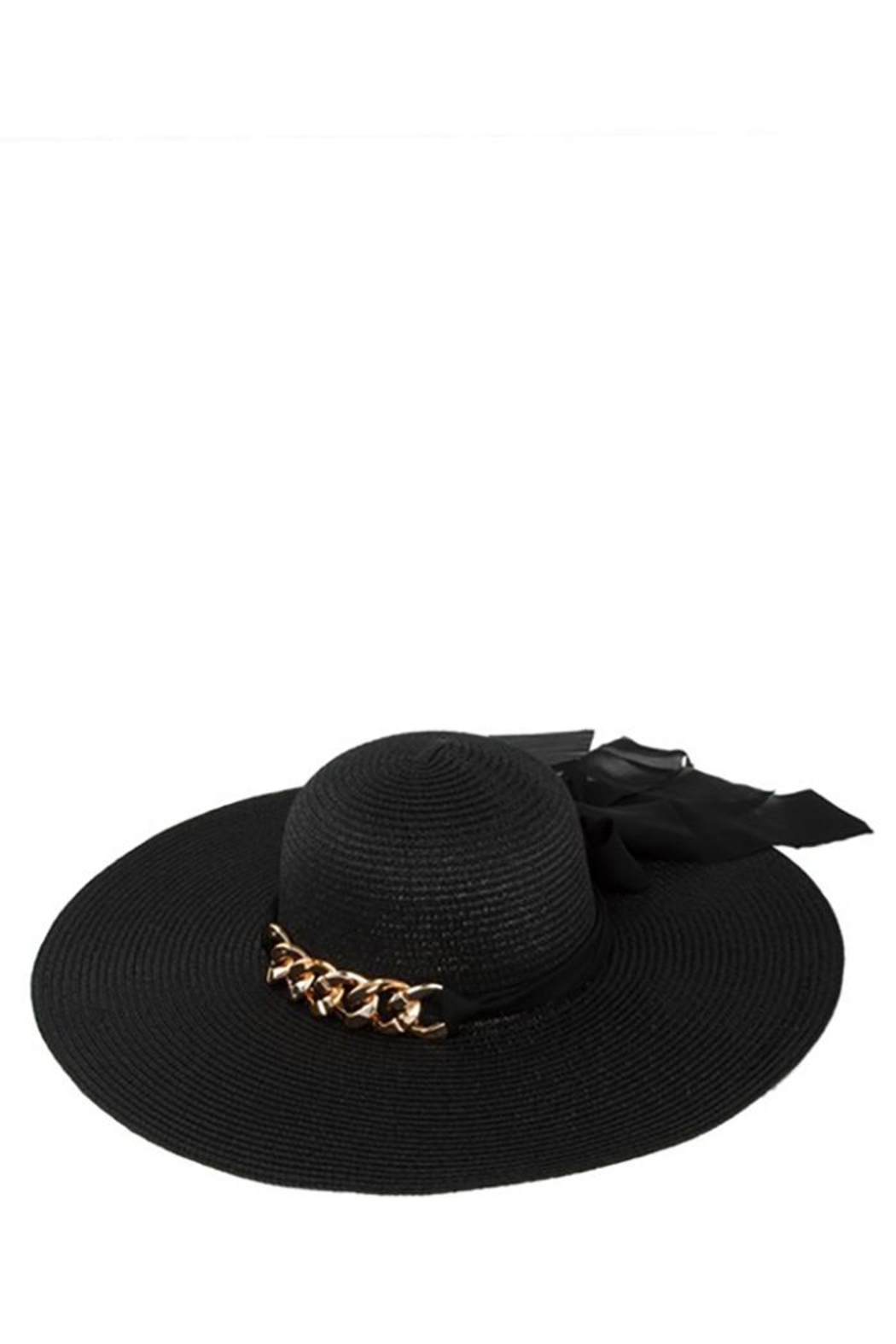 ICCO Chunky Chain With Ribbon Straw Hat - Front Cropped Image