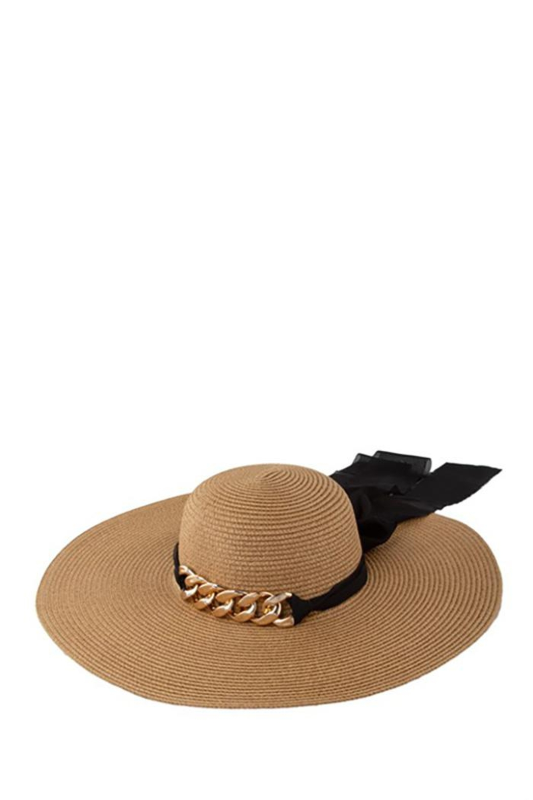 ICCO Chunky Chain With Ribbon Straw Hat - Main Image