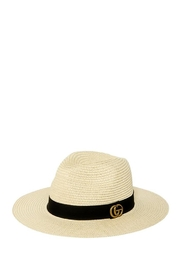 ICCO Designer Accent Fedora Straw Hat - Front cropped