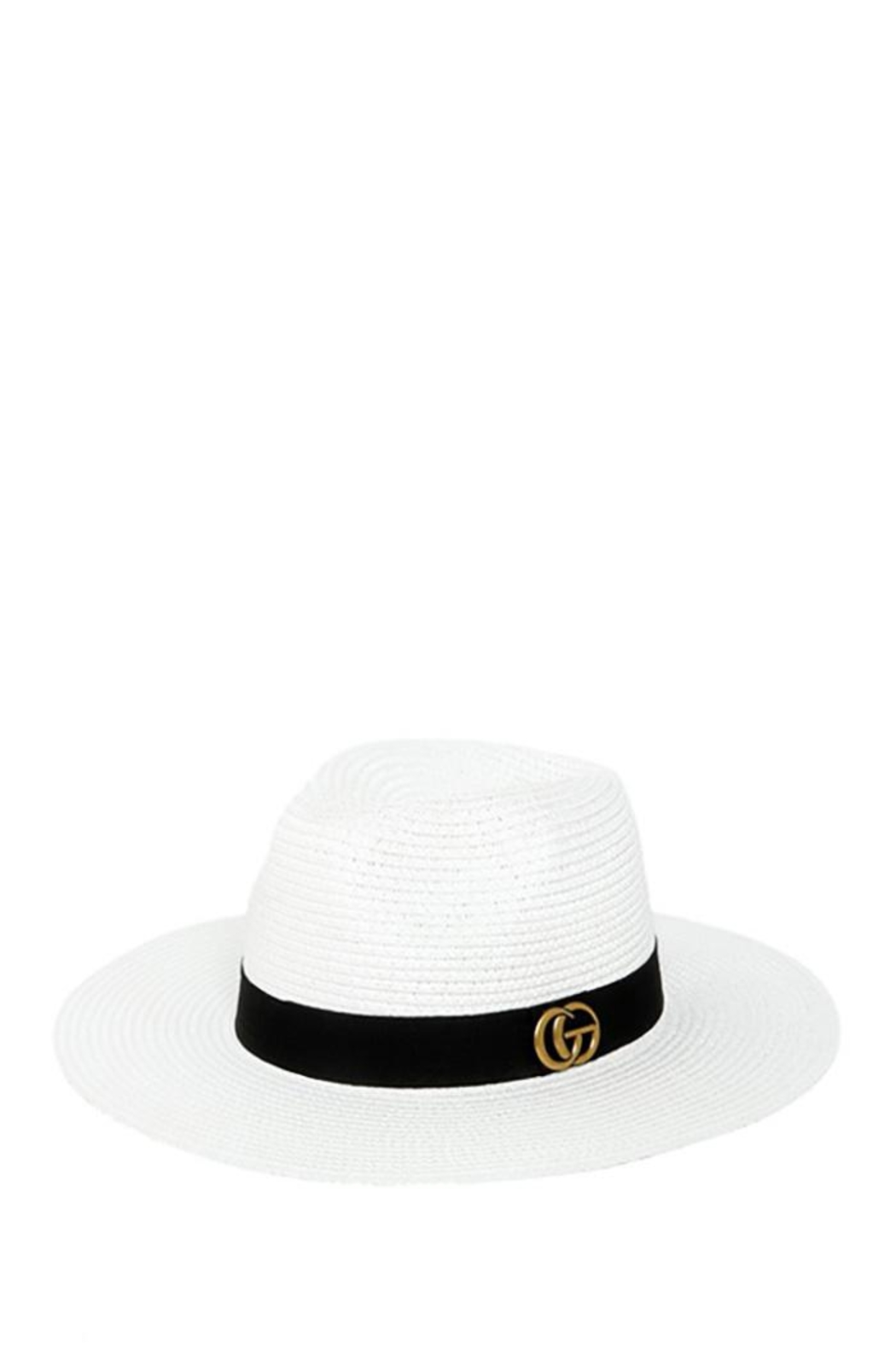 ICCO Designer Accent Fedora Straw Hat - Front Cropped Image