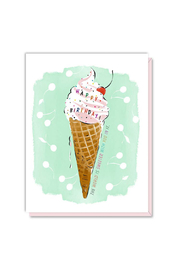 Driscoll Design Ice Cream Birthday Card - Product Mini Image