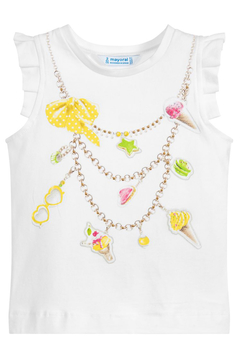 """Shoptiques Product: Ice-Cream """"Necklace"""" Tank Top"""