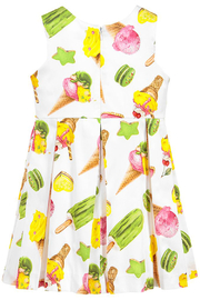 Mayoral Ice-Cream Print Cotton Dress - Side cropped