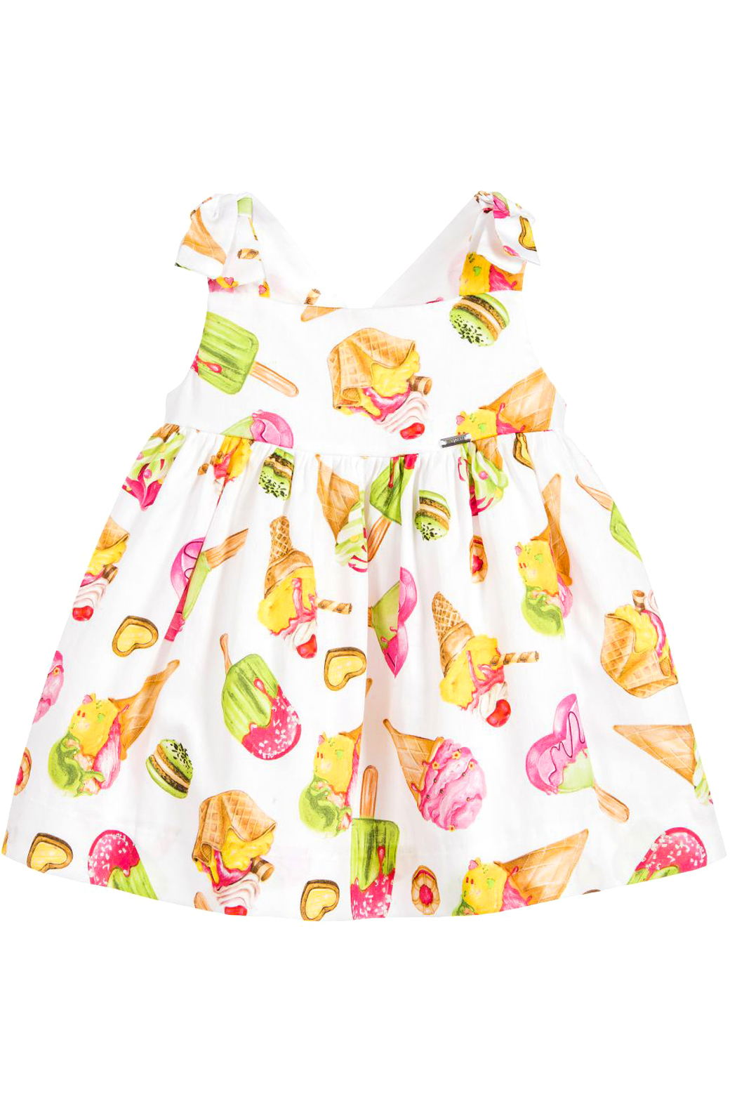 Mayoral Ice-Cream Print Cotton Dress - Front Cropped Image
