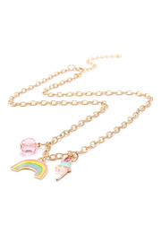 Hopscotch Kids Ice Cream Rainbows Charm Necklace - Product Mini Image
