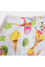 Mayoral Ice-Cream Shorts - Front full body